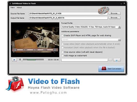 تبدیل ویدیوها به فلش Video to Flash 3.5.1.263