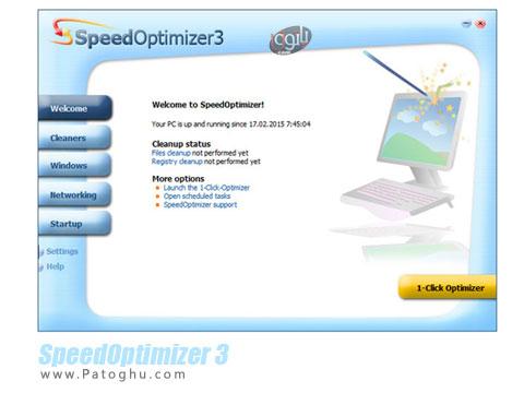 بهینه سازی سرعت ویندوز و اینترنت SpeedOptimizer 3 build 3.0.9.6