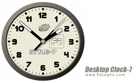 دانلود ساعت و تاریخ زیبا و متفاوت برای ویندوز Desktop Clock-7 4.1 Final