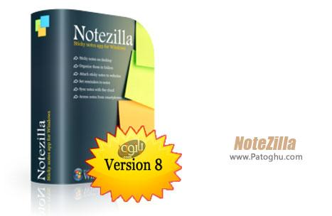 نرم افزار یادداشت برداری و چسباندن آن روی دسکتاپ NoteZilla 8.0.20