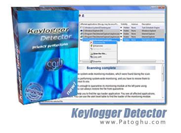حذف کی لاگرها و ابزارهایهای جاسوسی Keylogger Detector 1.36