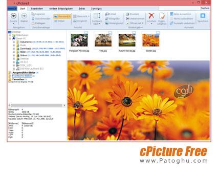 مشاهده و کار روی عکس های دیجیتال cPicture Free 3.4.3