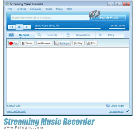 ضبط صداهای آنلاین و نرم افزارهای چت Streaming Music Recorder 3.4.1