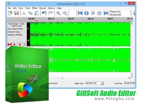 ویرایشگر حرفه ای فایل های صوتی GiliSoft Audio Editor 1.3.0