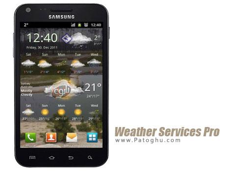 نرم افزار پیش بینی آب و هوا اندروید Weather Services Pro 2.4.2