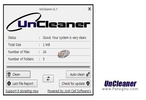 حذف فایل های غیر ضروری از ویندوز UnCleaner v1.7 Final
