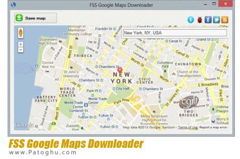 دانلود نقشه های گوگل FSS Google Maps Downloader 1.0.5.6