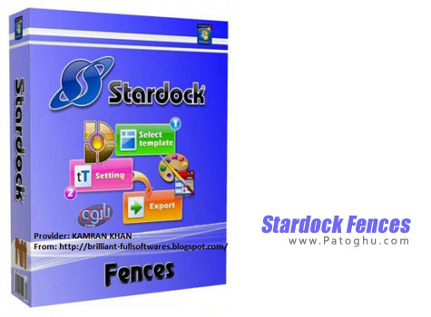 ابزاری ایده آل برای دسته بندی آیکون های دسکتاپ Stardock Fences 2.13.613