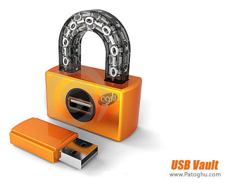 قفل گذاری روی فلش دیسک و مموری کارت ها USB Vault 1.1