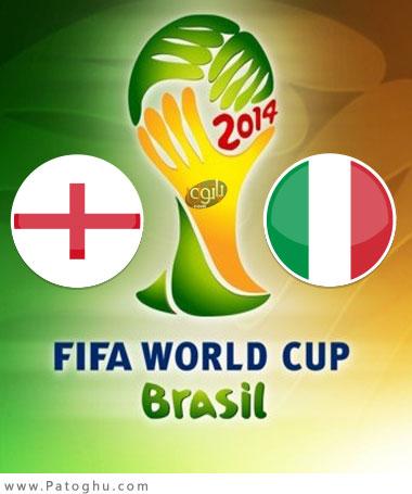 دانلود گل های بازی ایتالیا و انگلیس در جام جهانی 2014 برزیل Italy vs England