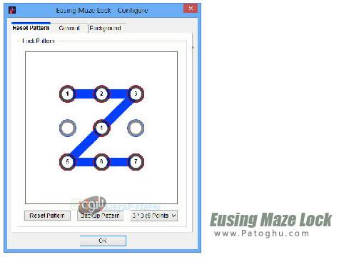 قفل ویندوز به سبک Pattern اندروید Eusing Maze Lock 3.1 Final