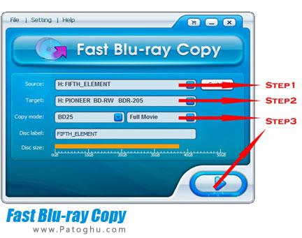 کپی آسان دیسک های بلوری Fast Blu-ray Copy 4.0.0.19