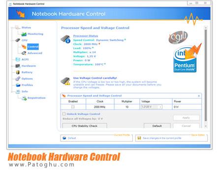 مدیریت ، نظارت و بهینه سازی سخت افزار لپ تاپ Notebook Hardware Control 2.4.3 Pro