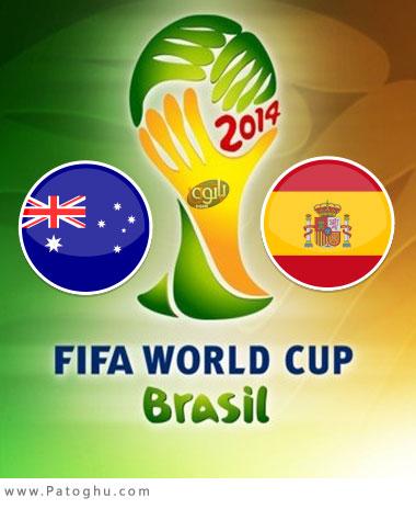 دانلود گلها و لحظات حساس بازی اسپانیا و استرالیا جام جهانی برزیل Spain vs Australia