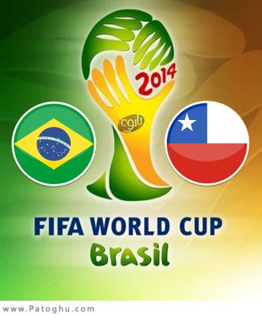 دانلود گلها و لحظات حساس بازی برزیل و شیلی جام جهانی 2014 برزیل Brazil vs Chile