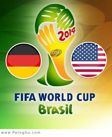 دانلود گل و لحظات حساس بازی آمریکا و آلمان جام جهانی برزیل USA vs Germany