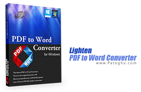 نرم افزار تبدیل PDF به ورد Lighten PDF to Word Converter 3.2.0