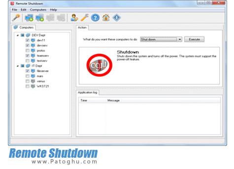 خاموش کردن از راه دور کامپیوتر های شبکه Remote Shutdown 4.0.0