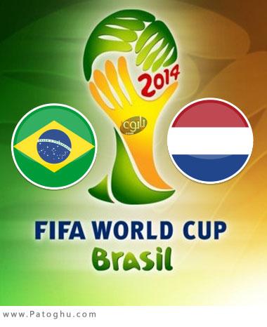 دانلود گلهای بازی هلند و برزیل ( دیدار رده بندی جام جهانی 2014 ) Brazil vs Netherlands