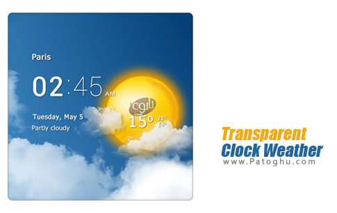 Transparent Clock Weather Pro برنامه