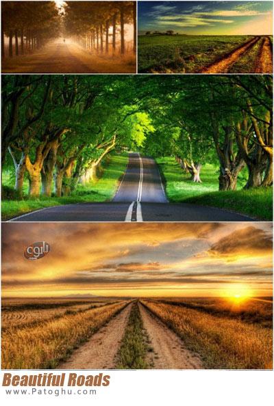 تصاویر از جاده های زیبا و رویایی برای پس زمینه دسکتاپ Beautiful Roads