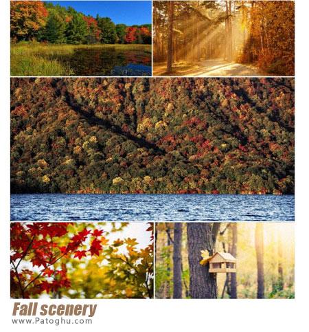 مجموعه تصاویر از چشم اندازهای طبیعی فوق العاده زیبا برای پس زمینه دسکتاپ Fall scenery