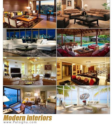 مجموعه تصاویر دیزاین و دکوراسیون های مدرن برای پس زمینه Modern interiors