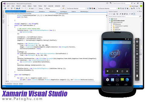 نرم افزار برنامه نویسی اندروید ، ویندوز  و iOS با Xamarin Visual Studio Enterprise 4.0.1.145