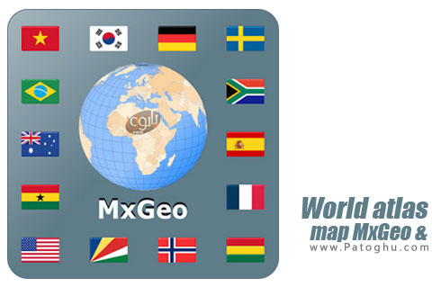 نرم افزار World atlas & map MxGeo