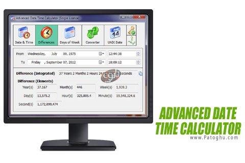 دانلود Advanced Date Time Calculator مبدل تاریخ ها به یکدیگر