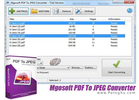 دانلود نرم افزار Mgosoft PDF To JPEG Converter برای ویندوز