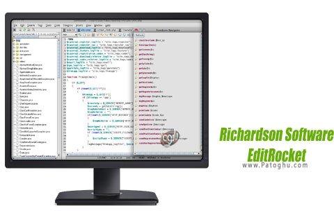 دانلود برنامه ویرایشگر فایل های متنی Richardson Software EditRocket