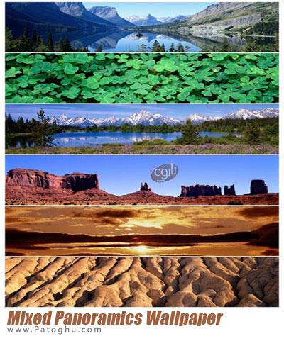 مجموعه عکس های پانوراما برای پش زمینه دسکتاپ Mixed Panoramics Wallpaper