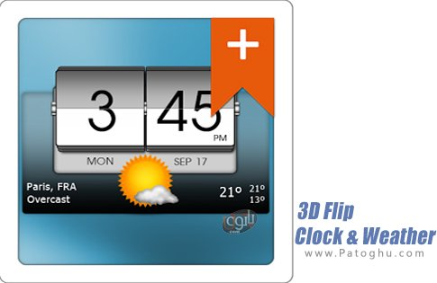 دانلود 3D Flip Clock & Weather Pro