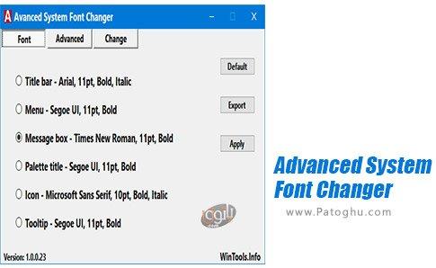 دانلود Advanced System Font Changer برای ویندوز