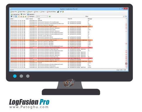 بررسی فایل های متنی LogFusion Pro