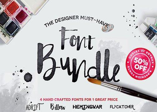 مجموعه 12 فونت انگلیسی Hand Crafted Font Bundle