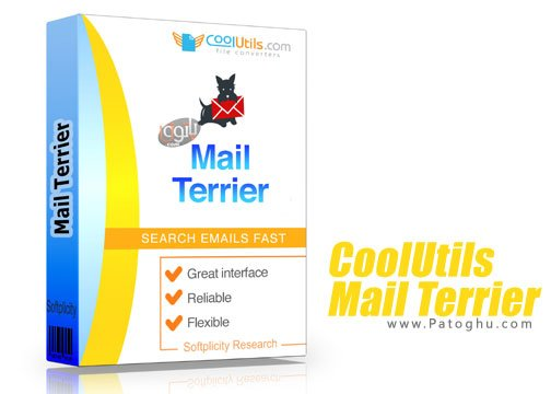 CoolUtils Mail Terrier Home - جستجو کید واژه ها در بین ایمیل ها