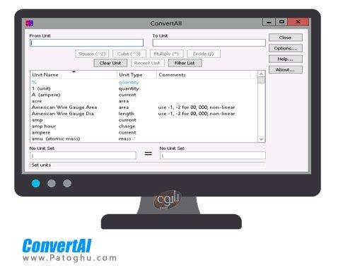 مبدل واحد های مختلف ConvertAll