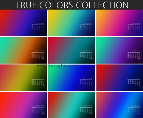 تقویم 98 رنگ واقعی