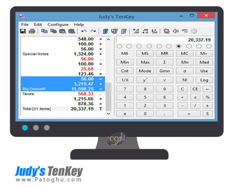 ماشین حساب برای ویندوز Judy's TenKey