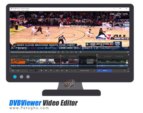 ویرایش ویدئو های ضبط شده DVBViewer Video Editor