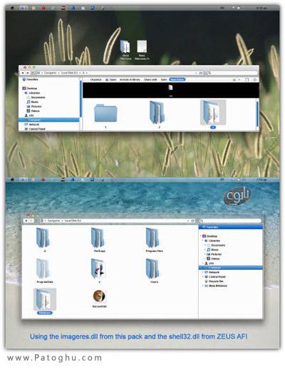 دانلود تم زیبا و باکلاس مخصوص ویندوز 7 - Meta Rithmisis Theme For Windows 7