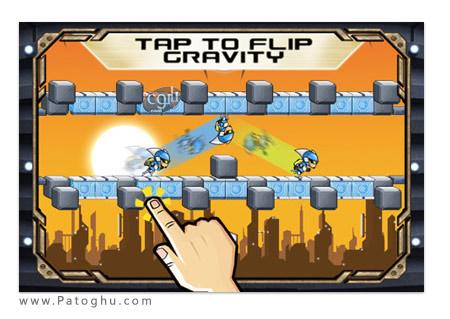 بازی زیبا و جذاب Gravity Guy اندروید