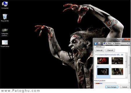 دانلود تم بسیار زیبا و جذاب Ticket to Fear Theme ویندوز 7