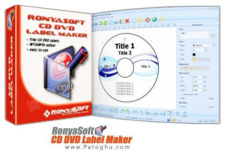 ساخت لیبل و کاور برای سی دی و دی وی دی با نرم افزار RonyaSoft CD DVD Label Maker 3.01.09