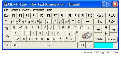 دانلود نرم افزار کیبورد مجازی Click-N-Type 3.03.412