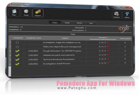 مدیریت زمان و افزایش بهره وری شخصی با نرم افزار Pomodoro App For Windows 2.1