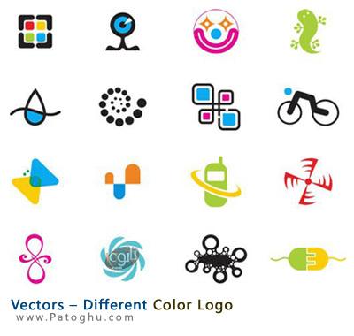 دانلود مجموعه وکتور لوگو های رنگی Vectors – Different Color Logo