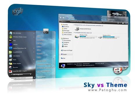 دانلود تم آسمان برای ویندوز سون - Sky vs Theme